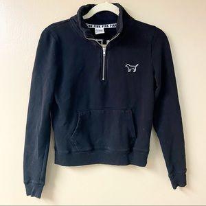 Victoria's Secret PINK Black Sweatshirt Large Logo